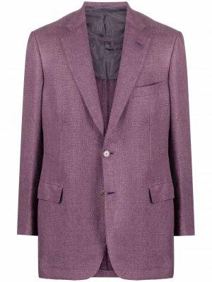 Однобортный пиджак Brioni. Цвет: фиолетовый