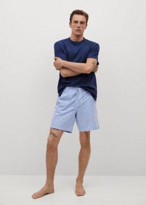 Комплект пижама из хлопка - Savina Mango. Цвет: синий