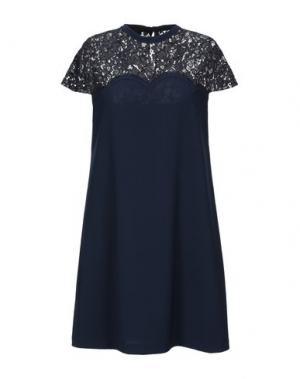 Короткое платье BLACK LABEL. Цвет: темно-синий