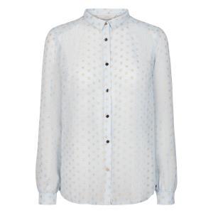 Рубашка в блестящий горох с длинными рукавами ARAZOA NUMPH. Цвет: рисунок голубой