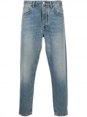 Зауженные джинсы с логотипом MARCELO BURLON COUNTY OF MILAN. Цвет: синий