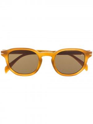 Солнцезащитные очки DB 1007/S в оправе панто Eyewear by David Beckham. Цвет: коричневый