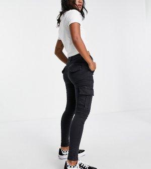 Темно-серые зауженные джинсы -Серый Parisian Petite