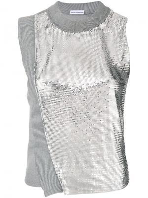 Metallic mesh tank Paco Rabanne. Цвет: серый