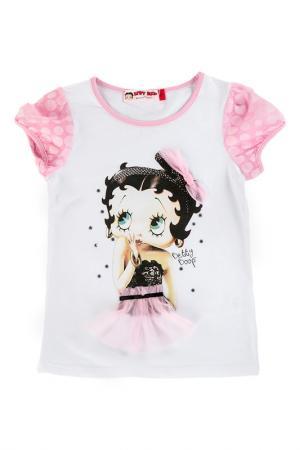 Футболка Betty Boop. Цвет: белый