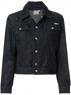 Укороченная джинсовая куртка Versace Pre-Owned. Цвет: синий