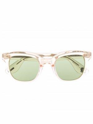 Солнцезащитные очки в прозрачной оправе Brunello Cucinelli. Цвет: нейтральные цвета