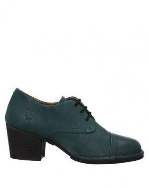 Обувь на шнурках FLY LONDON. Цвет: темно-зеленый