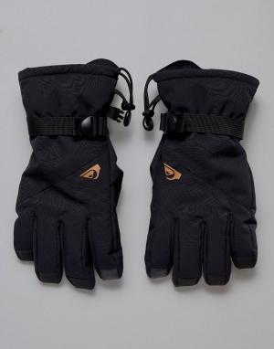 Черные лыжные перчатки Mission-Черный Quiksilver