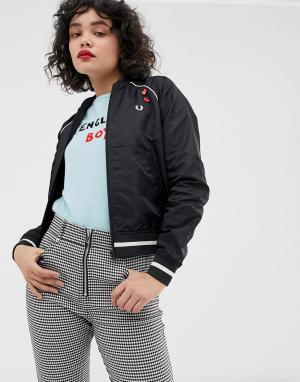 Бомбер с вышивкой x Amy Winehouse foundation Fred Perry. Цвет: черный