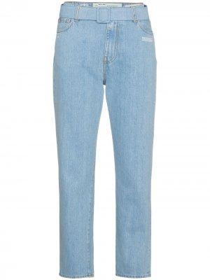 Укороченные джинсы средней посадки Off-White. Цвет: синий