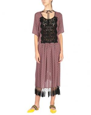 Платье до колена CLOVER CANYON. Цвет: кирпично-красный