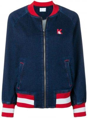 Джинсовая куртка с контрастной отделкой Karl Lagerfeld. Цвет: синий