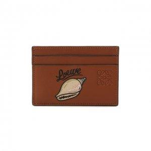Кожаный футляр для кредитных карт x Paulas Ibiza Loewe. Цвет: коричневый