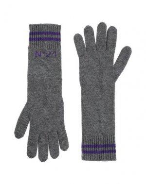 Перчатки N°21. Цвет: свинцово-серый