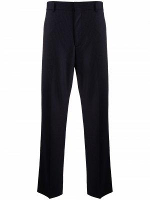 Строгие брюки в тонкую полоску Acne Studios. Цвет: синий
