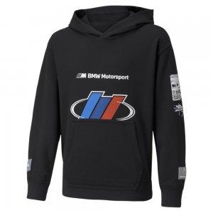 Детская толстовка BMW M Motorsport Street Youth Hoodie PUMA. Цвет: черный
