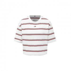 Хлопковая футболка Tommy Hilfiger. Цвет: белый