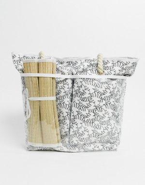 Пляжная сумка с тропическим принтом -Мульти SVNX