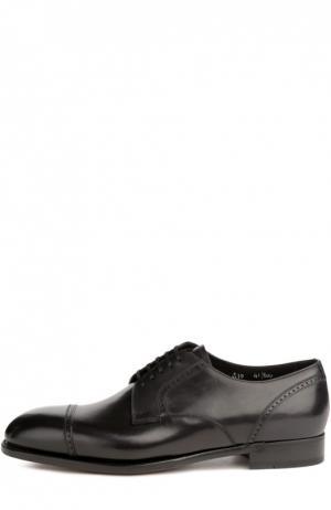 Туфли с набором аксессуаров Brioni. Цвет: черный