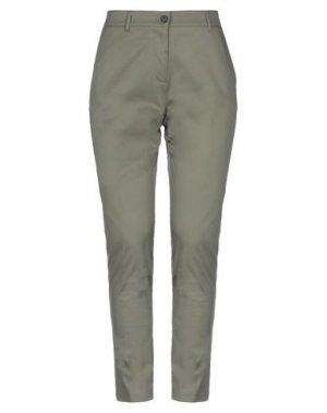 Повседневные брюки GOLD. Цвет: зеленый-милитари