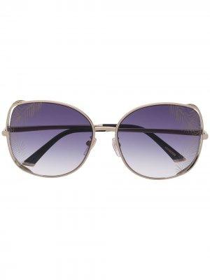 Солнцезащитные очки в массивной оправе Chopard Eyewear. Цвет: серебристый