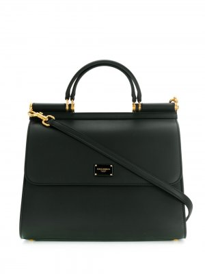 Большая сумка-тоут Sicily Dolce & Gabbana. Цвет: черный