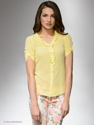 Блузка DRS Deerose. Цвет: желтый