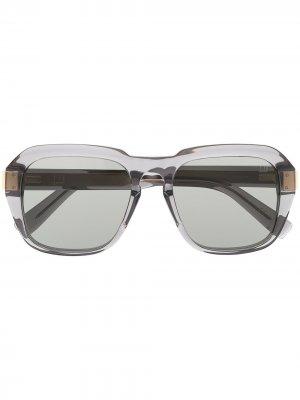 Очки Caine в прозрачной оправе Dunhill. Цвет: серый