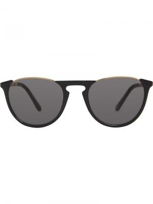Солнцезащитные очки в круглой оправе с затемненными линзами Burberry Eyewear. Цвет: черный