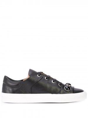 Кроссовки на шнуровке с заклепками Alberto Fermani. Цвет: черный