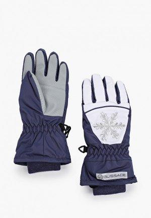 Перчатки горнолыжные Glissade. Цвет: синий