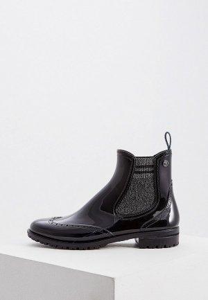 Полусапоги Trussardi Jeans. Цвет: черный