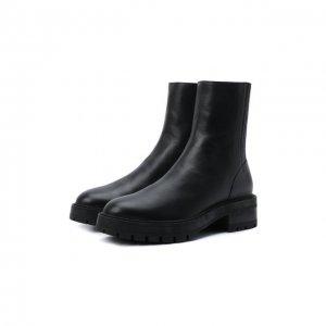 Кожаные ботинки Saint Honore Aquazzura. Цвет: чёрный