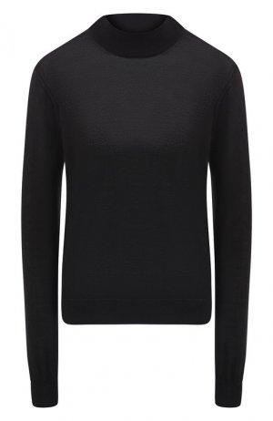 Пуловер из смеси кашемира и шелка Giorgio Armani. Цвет: черный