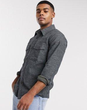 Серая куртка-рубашка -Черный Abercrombie & Fitch