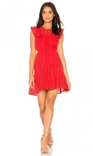 Платье kira Bardot. Цвет: красный