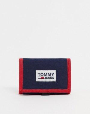 Бумажник тройного сложения -Темно-синий Tommy Jeans