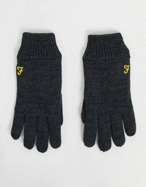 Перчатки с логотипом -Серый Farah