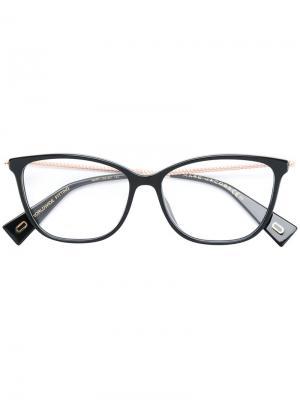 Очки в оправе кошачий глаз Marc Jacobs Eyewear. Цвет: чёрный