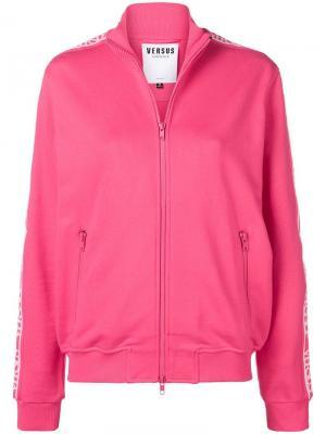 Спортивная куртка с логотипом Versus. Цвет: розовый