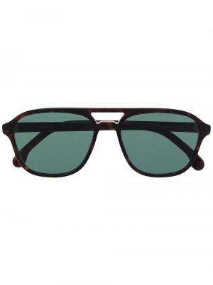 Солнцезащитные очки-авиаторы Alder V2 PAUL SMITH. Цвет: коричневый