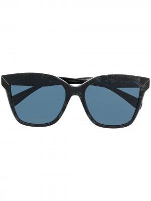 Солнцезащитные очки в квадратной оправе Yohji Yamamoto. Цвет: серый