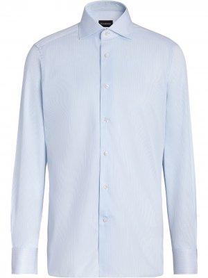 Рубашка с принтом Ermenegildo Zegna. Цвет: синий