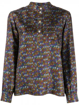 Блузка с цветочным принтом A.P.C.. Цвет: зеленый