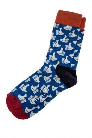 Носки HAPPY SOCKS. Цвет: мультицвет, синий