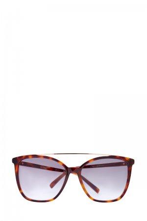 Очки-oversize в прозрачной оправе с внутренним черепаховым принтом MAX MARA (sunglasses). Цвет: none