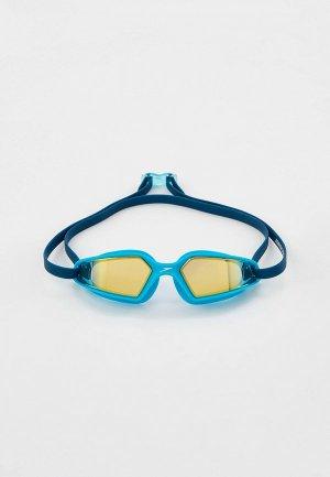 Очки для плавания Speedo Hydropulse. Цвет: голубой