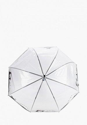 Зонт-трость Flioraj. Цвет: прозрачный