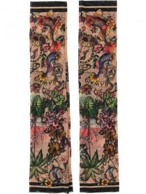 Hawaii tattoo print sleeves Dsquared2. Цвет: многоцветный